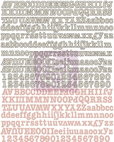 Prima - Fairy Rhymes Collection - 8x10 sheet Uppercase and Lowercase Canvas Alpabet Stickers