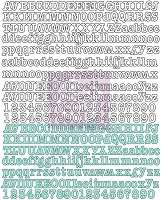 Prima - Hello Pastel Collection - Canvas Alphabet Stickers