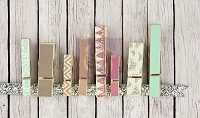 Prima - Fairy Rhymes Collection - Wood Clips