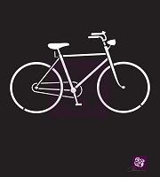 Prima - 6x6 Stencil - Bicycle :)
