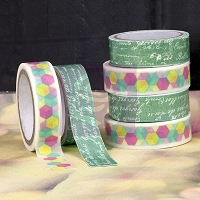 Prima - Washi & Fabric Tape - Hello Pastel (1 roll each)