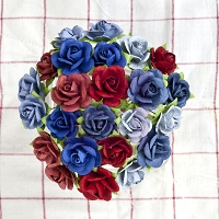 Prima - Paper Flowers - Liberty - Small Rose :)