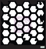 Prima - 12x12 Art Stencil - Hexagon Grunge :)