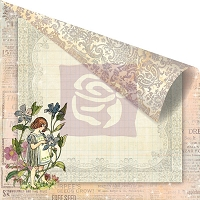 Prima - Fairy Rhymes Collection - 12x12 Double Sided Paper - Periwinkle