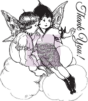 Prima - Fairy Rhymes Collection - Clear Stamp #3 (Thank You Fairies)