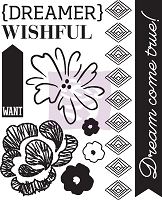 Prima - Leza Gibbons Wishes & Dreams - Wishful Thinking Cling Stamp # 1 :)