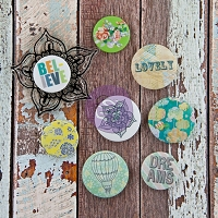 Prima - Free Spirit Collection -  Flair Buttons