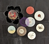 Prima - Stationers Desk Collection - Flair Buttons