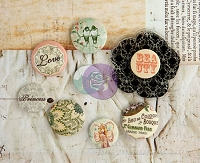 Prima - Princess Collection - Flair Buttons