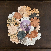 Prima - Cartographer Collection - Paper Flowers -Drifter