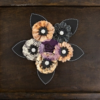 Prima - Cartographer Collection -  Paper Flowers - Voyager :)