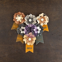 Prima - Cartographer Collection -  Paper Flowers - Explorer