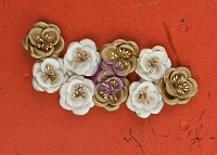 Prima - Talia Collection - Mulberry Paper Flowers -Tempting
