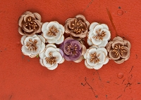 Prima - Talia Collection - Mulberry Paper Flowers -Tenacious