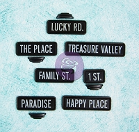 Prima - Junkyard Findings Collection- Black Street Signs