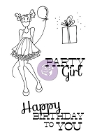 Prima - Mixed Media Doll Stamp Kit - Party Girl