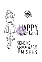 Prima - Mixed Media Doll Stamp Kit - Warm Wishes