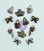 Prima - Metal Embellishment - Mixed Media Doll Metal Icons