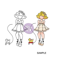 Prima - Cling Mounted Rubber Stamp - by Julie Nutting - Little Girl :)