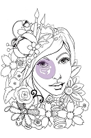 Prima - Bloom Girl Collection - by Jamie Dougherty - Cling Stamp Set - Karlie :)