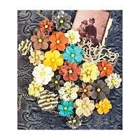 Prima - Timeless Memories Collection - Paper Flowers - Remembrance