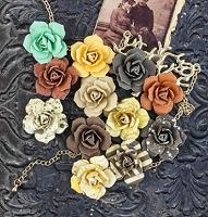 Prima - Timeless Memories Collection - Paper Flowers - Reflection