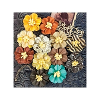 Prima - Timeless Memories Collection - Paper Flowers - Retrospect