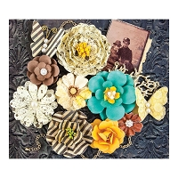 Prima - Timeless Memories Collection - Paper Flowers - Nostalgia