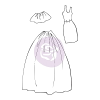Prima - Cling Mounted Rubber Stamp - by Julie Nutting - Dress & Skirt Accessories
