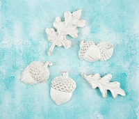 Prima - Shabby Chic Treasures by Ingvild Bolme - Resin Fall Acorns and Leaves