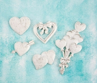Prima - Shabby Chic Treasures by Ingvild Bolme - Resin Hearts