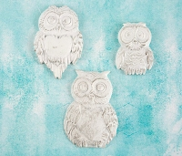 Prima - Shabby Chic Treasures by Ingvild Bolme - Resin Large Owls