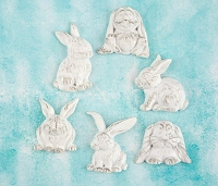 Prima - Shabby Chic Treasures by Ingvild Bolme - Resin Rabbits