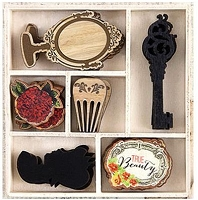 Prima - Bella Rouge Collection - Wood Icons in a Box :)