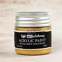 Prima - Art Alchemy - Acrylic Paint-Metallique Gold Rush by Finnabair