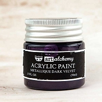 Prima - Art Alchemy - Acrylic Paint-Metallique Dark Velvet by Finnabair
