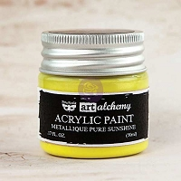 Prima - Art Alchemy - Acrylic Paint-Metallique Pure Sunshine by Finnabair