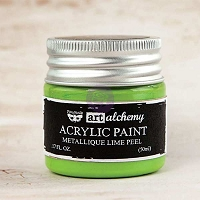 Prima - Art Alchemy - Acrylic Paint-Metallique Lime Peel by Finnabair