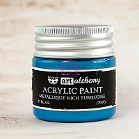 Prima - Art Alchemy - Acrylic Paint-Metallique Rich Turquoise by Finnabair