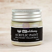 Prima - Art Alchemy - Acrylic Paint - Opal Magic Yellow-Blue by Finnabair