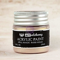 Prima - Art Alchemy - Acrylic Paint-Opal Magic Rose-Gold by Finnabair