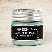 Prima - Art Alchemy - Acrylic Paint-Opal Magic Blue-Gold by Finnabair