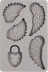 Prima - Finnabair Decor Mould Wings & Locket