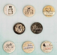 Prima - Everyday Vintage Collection - Flair Buttons
