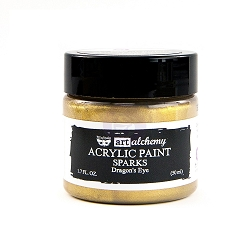 Prima - Art Alchemy Acrylic Paint - Sparks Dragon's Eye by Finnabair