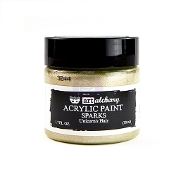 Prima - Art Alchemy Acrylic Paint - Sparks Unicorn's Hair by Finnabair