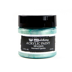 Prima - Art Alchemy Acrylic Paint - Sparks Mermaid Sparkle by Finnabair