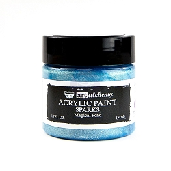 Prima - Art Alchemy Acrylic Paint - Sparks Magical Pond by Finnabair