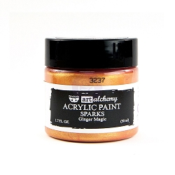 Prima - Art Alchemy Acrylic Paint - Sparks Ginger Magic by Finnabair