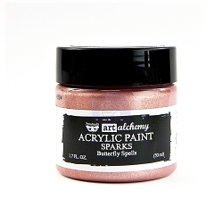 Prima - Art Alchemy Acrylic Paint - Sparks Butterfly Spells by Finnabair